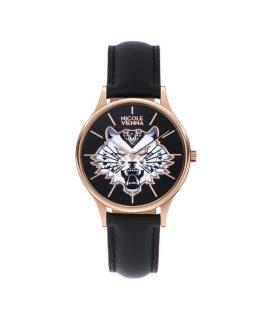 Orologio Nicole Vienna Tiger pelle nero - 34 mm donna NV00100047