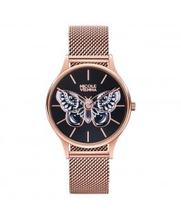 Orologio Nicole Vienna Butterfly oro rosa - 34 mm