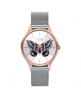 Orologio Nicole Vienna Butterfly acciaio - 34 mm