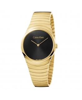 Orologio Calvin Klein Whirl dorato nero - 34 mm