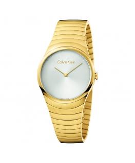 Orologio Calvin Klein Whirl dorato bianco - 34 mm