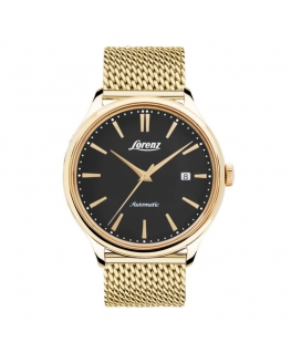 Orologio Lorenz Vintage automatico dorato / nero - 41 mm