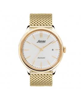 Orologio Lorenz Vintage automatico dorato / bianco - 41 mm