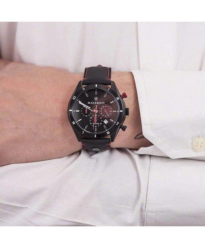 Orologio Maserati Sorpasso chrono pelle nero - 44 mm - galleria 2