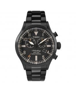 Orologio Timex Waterbury chrono acciaio nero - 42 mm