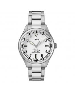 Orologio Timex Waterbury tempo acciaio bianco - 37 mm