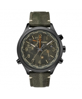 Orologio Timex IQ World Time verde - 43 mm