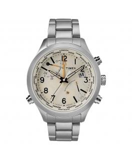 Orologio Timex IQ World Time acciaio beige - 43 mm