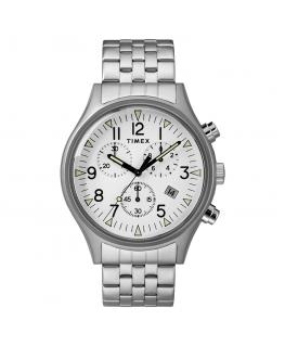 Orologio Timex MK1 chrono acciaio bianco - 42 mm