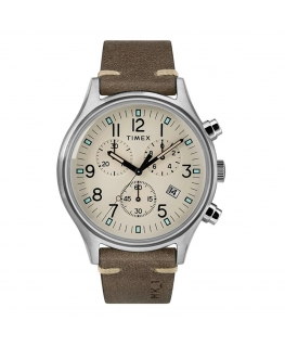 Orologio Timex MK1 chrono pelle beige - 42 mm