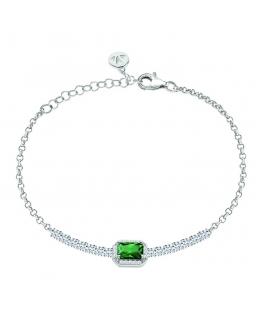 Bracciale Morellato Tesori arg.925 smeraldo - 16/19 cm donna