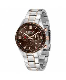 Sector 770 44mm chr brown dial br ss+rg