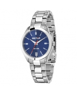 Sector 245 31mm 3h blue dial ss br