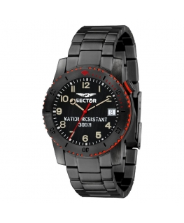 Orologio Sector Dive 300 black edition 40 mm uomo R3253598001
