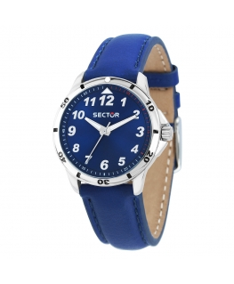 Orologio Sector Sector Young pelle blu 36 mm