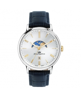 Orologio Philip Watch Truman fasi lunari blu - 41 mm