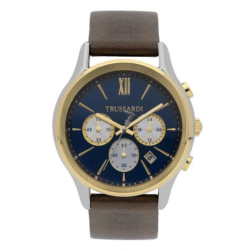Orologio Trussardi Tfirst chrono pelle marrone - 43 mm