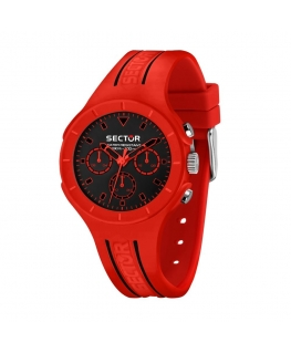 Sector Speed touch 41mm mult blk dial red sil s maschile
