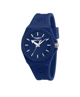Sector 960 41mm 3h blue dial blue sili st maschile R3251538003