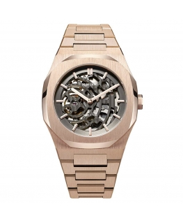 D1 MILANO Mod. SKELETON ROSE GOLD AUTOMATIC