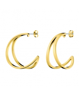 Orecchini Calvin Klein Starting oro - 35 mm