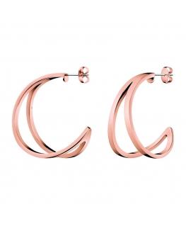 Orecchini Calvin Klein Starting oro rosa - 35 mm