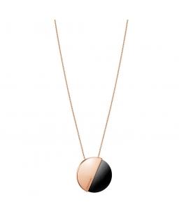 Collana Calvin Klein Spicy oro rosa / nero - 80 cm