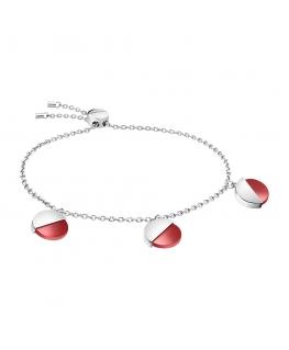 Bracciale Calvin Klein Spicy silver / rosso - 16/25 cm