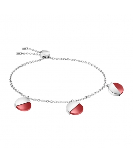Bracciale Calvin Klein Spicy silver / rosso - 16/25 cm donna