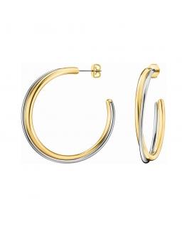 Orecchini Calvin Double silver / oro - 48 mm