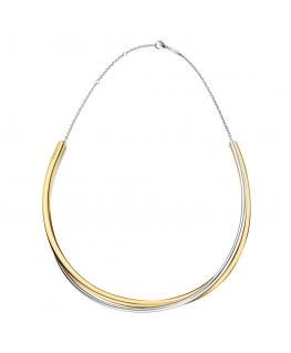 Collana Calvin Double oro / silver - 45 cm