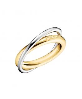 Anello Calvin Double oro / silver