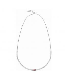 Collana Calvin Klein Tune silver / rossi - 45 cm