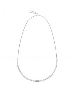 Collana Calvin Klein Tune silver / blu - 45 cm