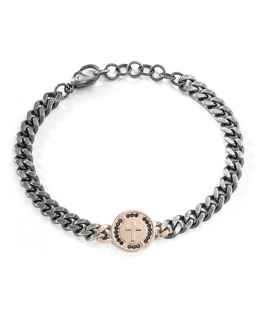 Bracciale Sector Strong antique + rose pvd - 22 cm