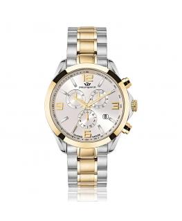 Philip Watch Blaze 41mm chr 6h white dial brace yg/ss