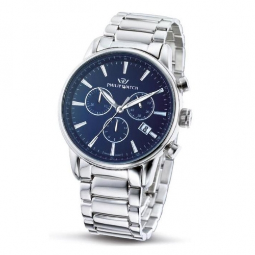 Philip Watch Kent chr blue dial/bracelet