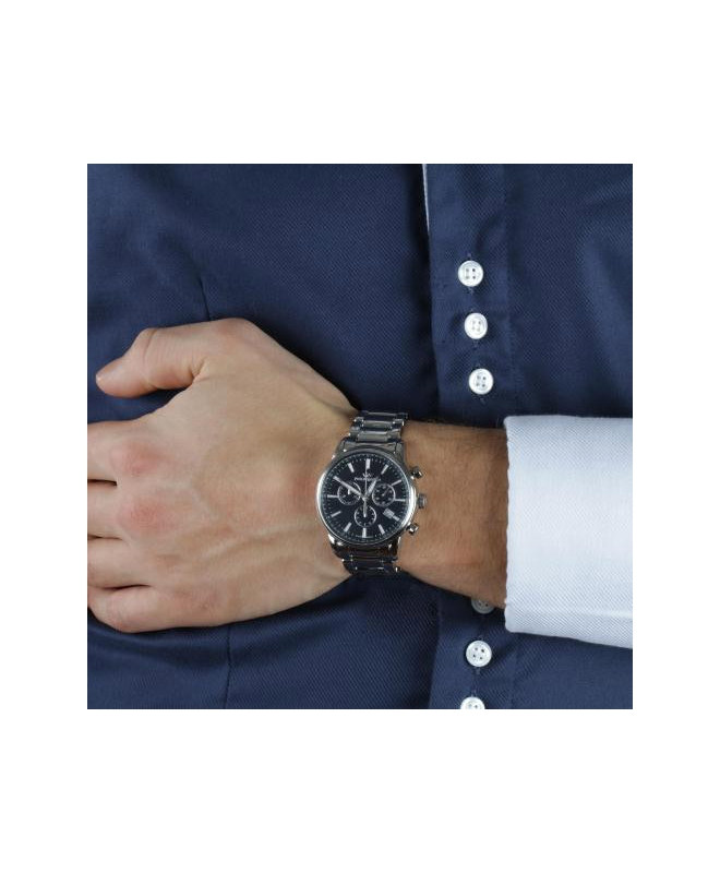 Philip Watch Kent chr blue dial/bracelet - galleria 2
