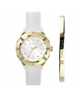 NAUTICA Mod. CAPRI (watch + fashion jewel bracelet, gift set)