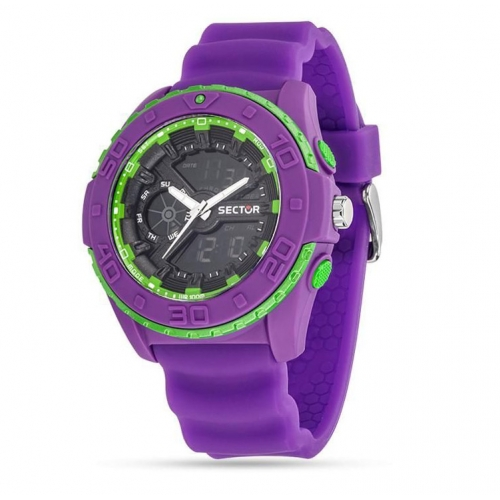 Orologio Sector Street digital viola - 44 mm