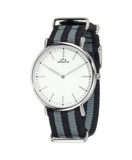 Chronostar Preppy ext 2h white dial black+grey st