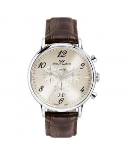Orologio Philip Watch Truman crono marrone - 41mm uomo
