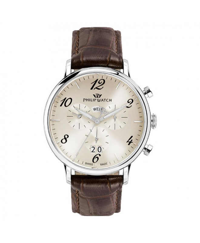 Orologio Philip Watch Truman crono marrone - 41mm uomo - galleria 1