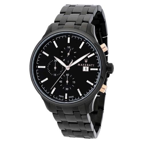 Orologio Maserati Attrazione chrono nero acciaio - 43 mm uomo