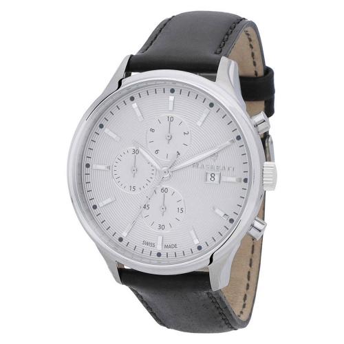 Orologio Maserati Attrazione chrono pelle 43 mm uomo R8871626002