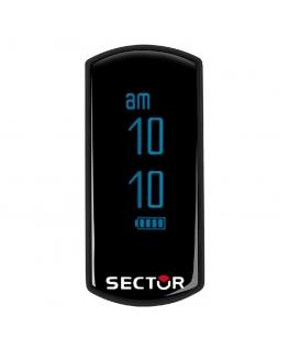 Sector Fit digita black + red 40x18mm