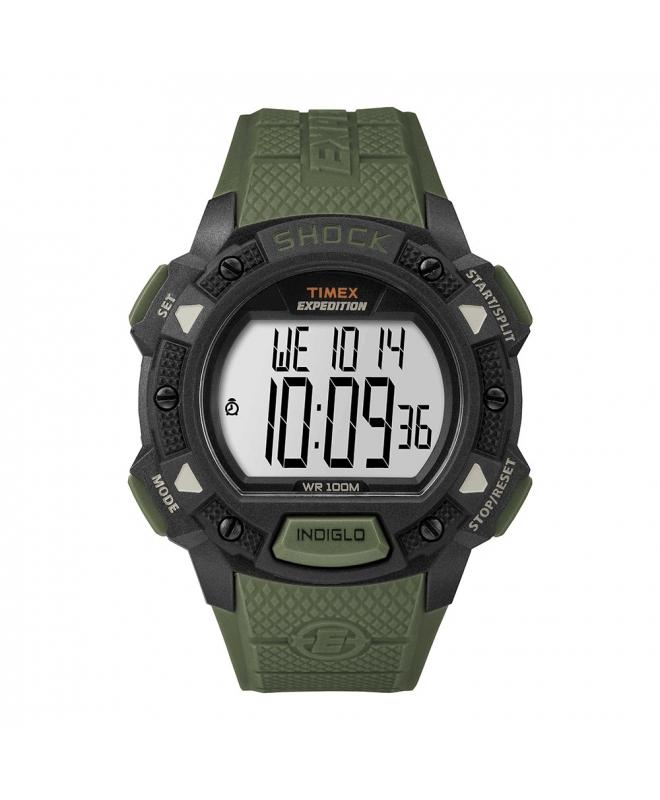 Orologio Timex Base Shock verde - 44 mm - galleria 1