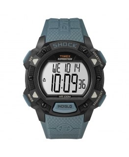 Orologio Timex Base Shock azzurro - 44 mm
