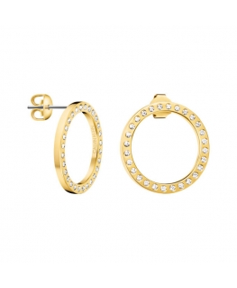 Orecchini Calvin Klein Hook acciaio dorato - 22 mm
