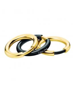 Anello Calvin Klein Disclose nero / oro donna KJ5FBR2001
